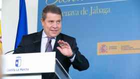 Emiliano García-Page, en una imagen de este lunes en el acto con la ministra de Educación