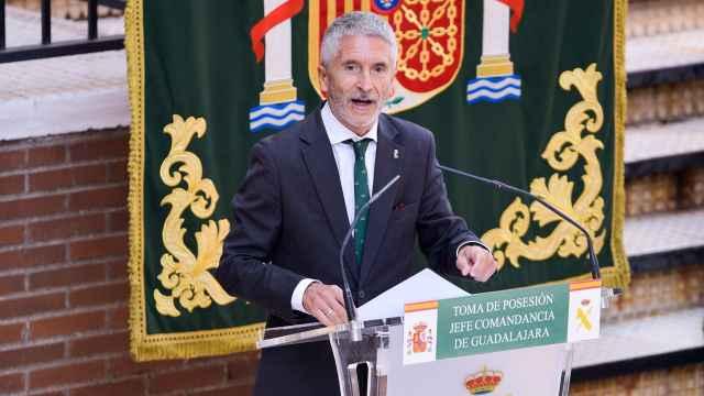 El ministro del Interior, Fernando Grande-Marlaska, en Guadalajara