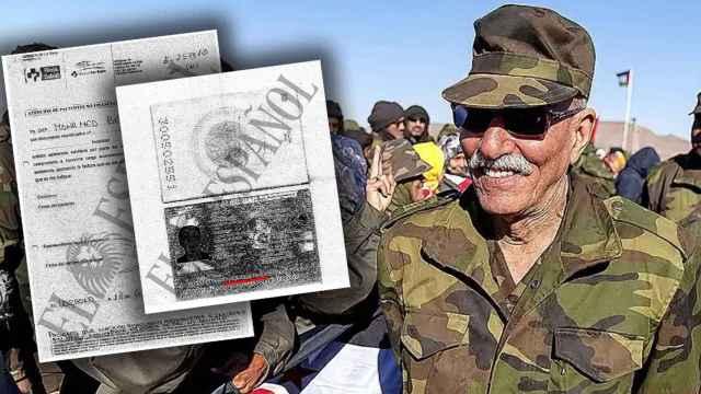 El pasaporte a nombre de Mohamed Benbatouche con el que Ghali ingresó en el hospital.