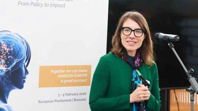 La española Jara Pascual, durante un evento en Bruselas.