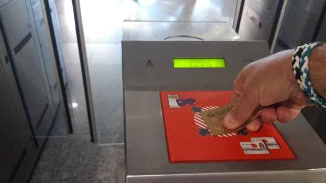 Imagen del sistema de pago por tarjeta Cronos.