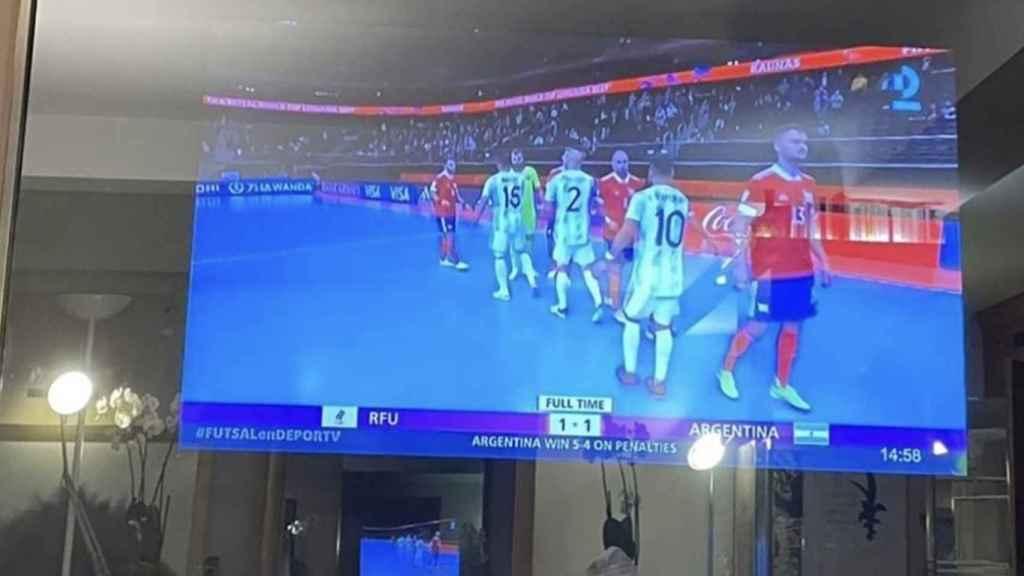 Televisor de Messi.