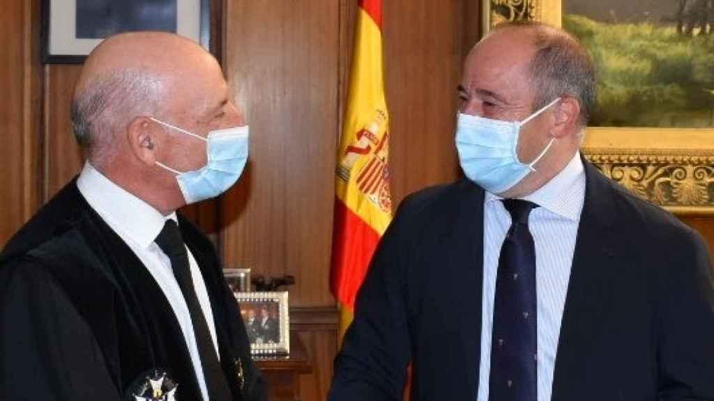 Vicente Rouco y el alcalde de Albacete, Emilio Sáez