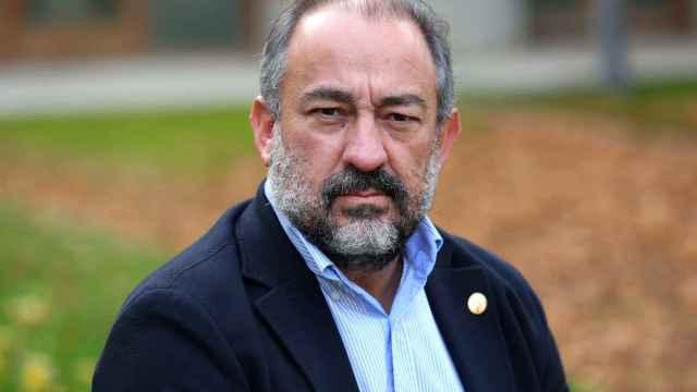 Julián Garde, rector de la Universidad de Castilla-La Mancha, en una imagen de Óscar Huertas