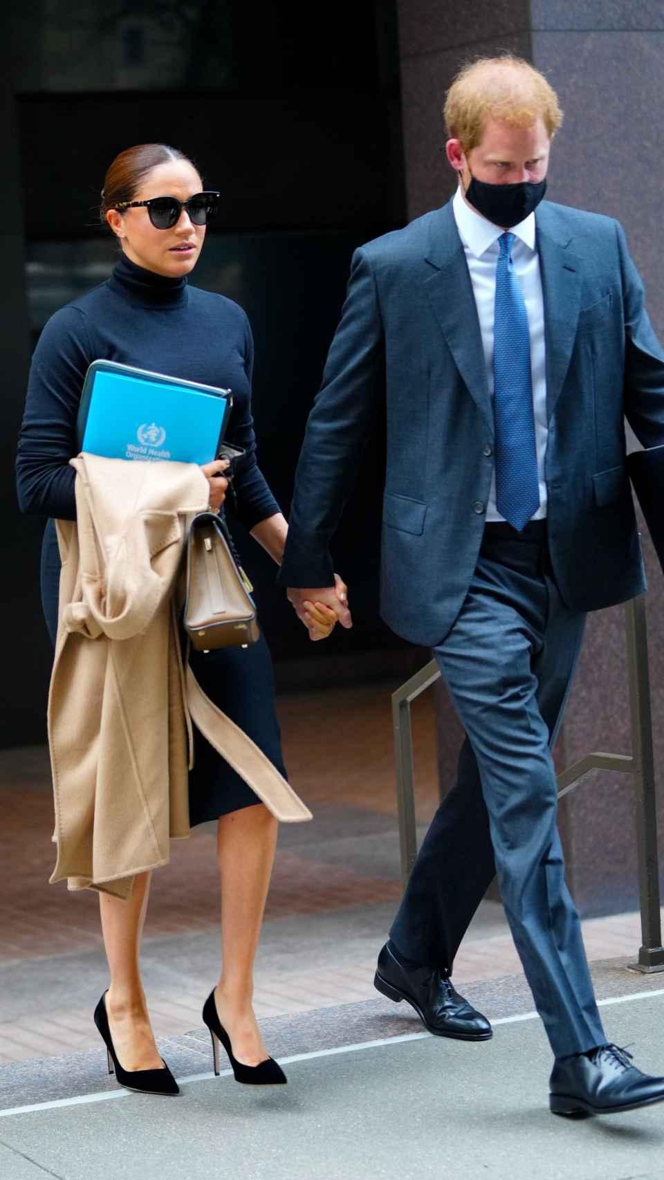 Meghan Markle y el príncipe Harry, durante su viaje a Nueva York.
