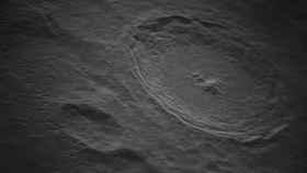 Imagen recortada de la Luna, del cráter Tycho.