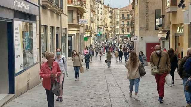 Calle Toro, unas de las primera calles que se peatonalizó en Salamanca