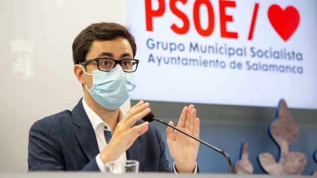 El portavoz del PSOE en el Ayuntamiento de Salamanca, José Luis Mateos
