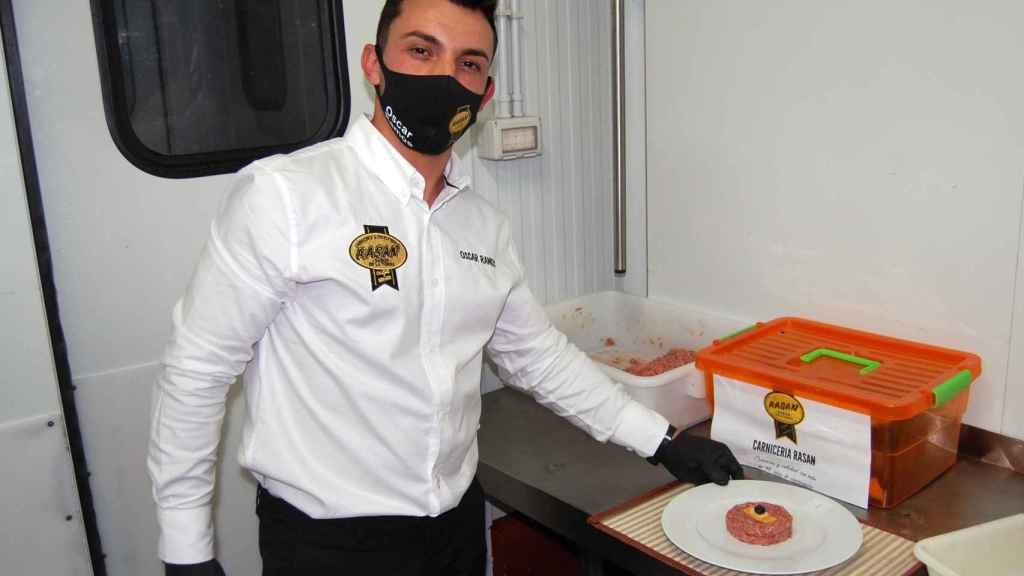 Imagen de la hamburguesa ganadora del IX edición de la fase provincial Concurso 'La Mejor Hamburguesa de Castilla y León'