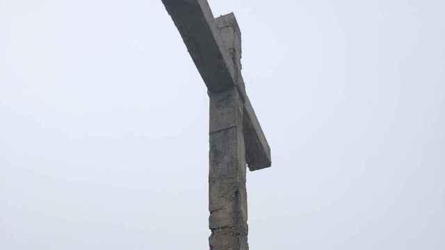 Cruz actual en el cementerio de San Atilano