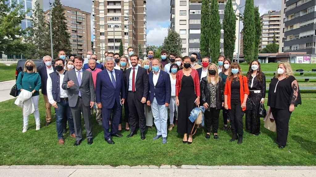 El PP de Zamora junto a Pablo Casado durante el Congreso Nacional en Valladolid