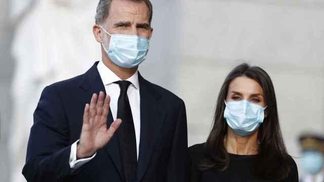 Felipe y Letizia en una imagen captada en Madrid en julio de 2020.