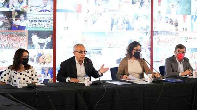 Alejandro Blanco, presidente del COE, durante la reunión del Comité Ejecutivo