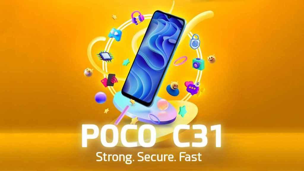 POCO C31, filtrado el futuro móvil de gama de entrada