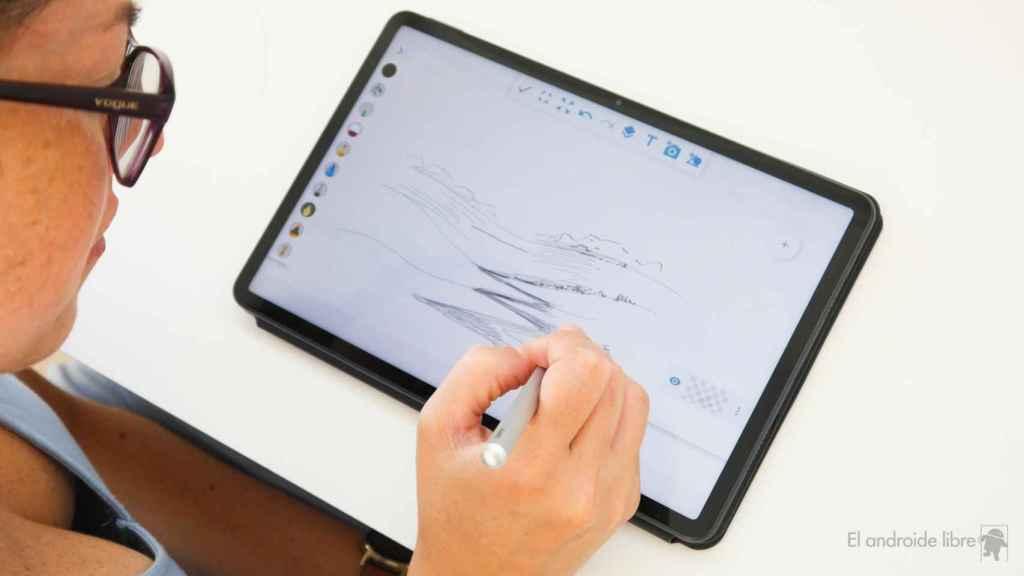 Dibujando en la Huawei MatePad 11