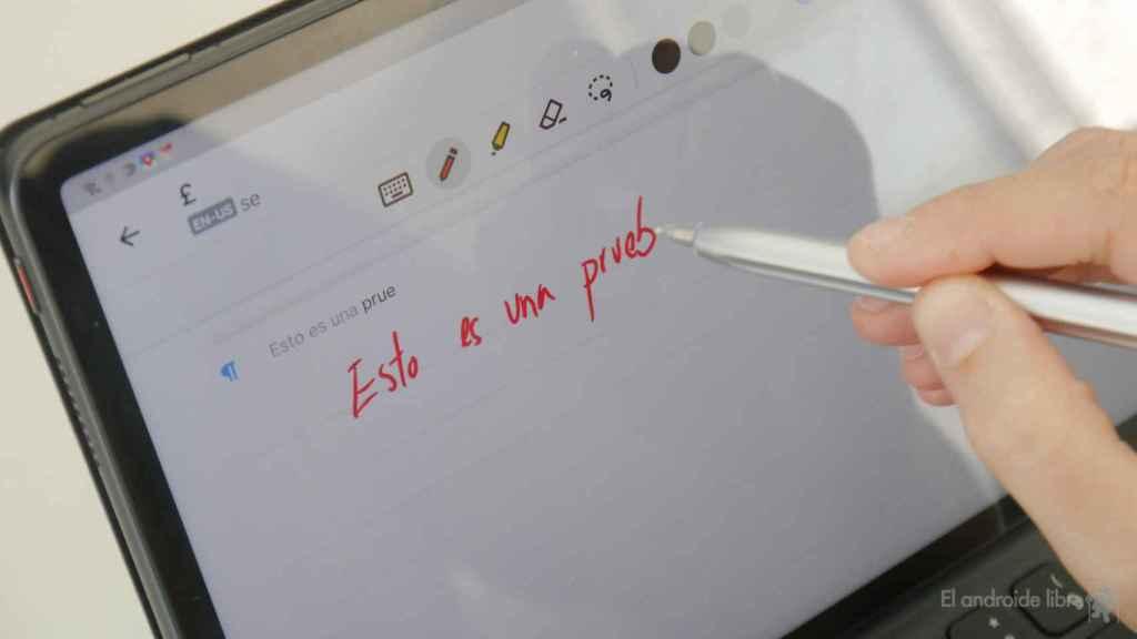 Escribiendo con la Huawei MatePad 11