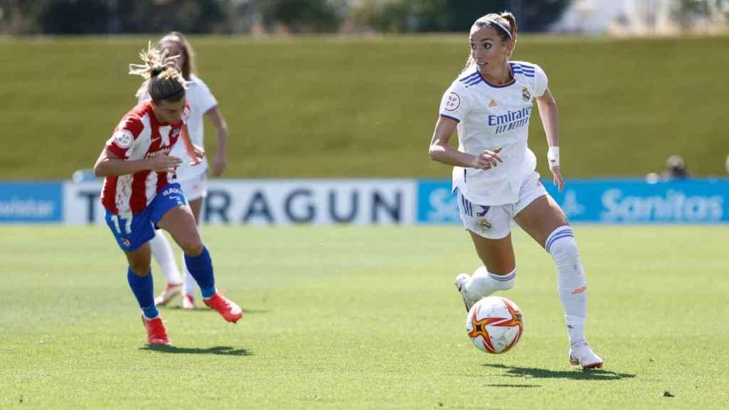 Kosovare Asllani, durante un partido del Real Madrid Femenino en la temporada 2021/2022