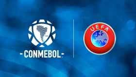 Copa Intercontinental: los logos de la CONMEBOL y de la UEFA