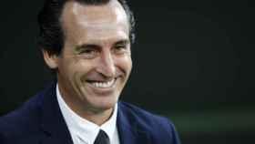 Unai Emery, en un partido del Villarreal en la temporada 2021/2022