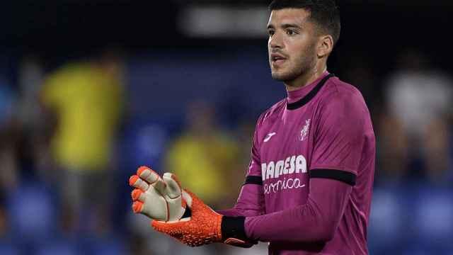 Geronimo Rulli, en un partido del Villarreal en la temporada 2021/2022