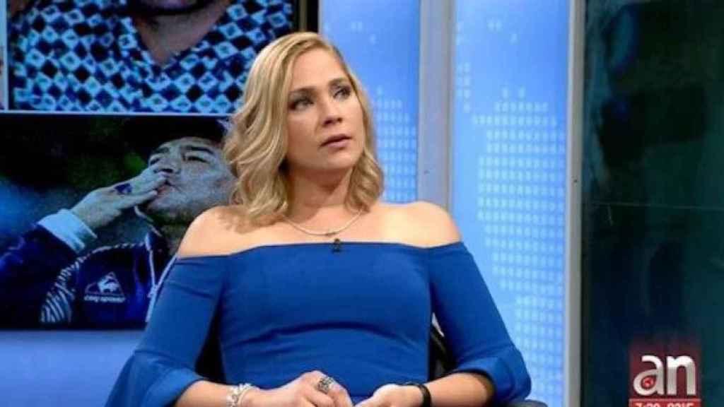 Mavis Álvarez, ex de Maradona, en el programa América TeVé del canal 41 de Miami