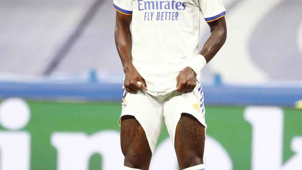 Vinicius, en un partido del Real Madrid
