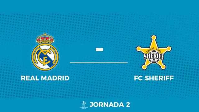 Madrid - FC Sheriff: siga en directo el partido de la Champions League con nosotros