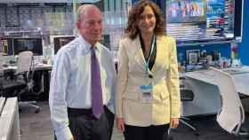 Michael Bloomberg junto a Isabel Díaz Ayuso este lunes en Nueva York.