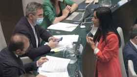 La vicealcaldesa de Madrid, Begoña Villacís, este martes en el pleno del Ayuntamiento. EP