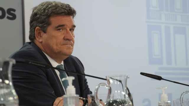 José Luis Escrivá, ministro de Inclusión, Seguridad Social y Migraciones, en la sala de prensa de Moncloa..