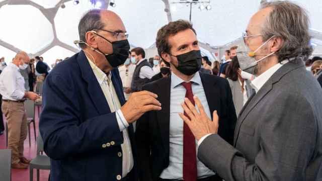 Vidal-Quadras, Casado y Girauta, este martes en Valladolid.