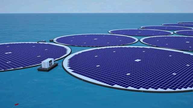Una de las plantas solares de gran formato ideadas por Statkraft, la hidroeléctrica estatal noruega, junto a la startup Ocean Sun.