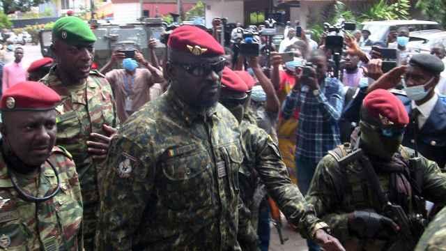 Mamady Doumbouya, comandante de las fuerzas especiales que ejecutaron el golpe de Estado en Guinea-Conakry.