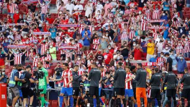 Imagen de una partido de fútbol de LaLiga