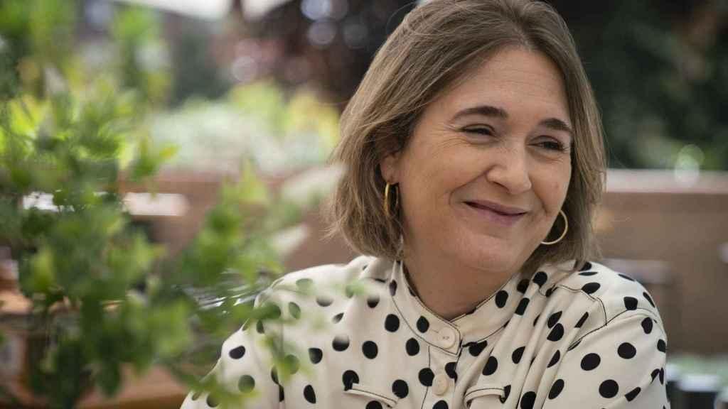 Marta Rivera, en un momento de la entrevista.