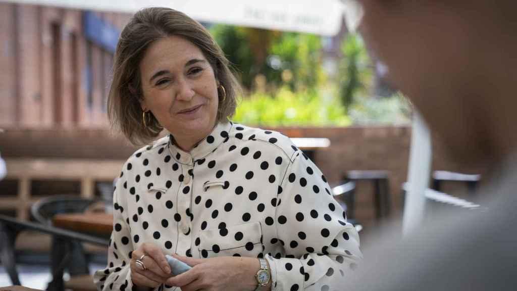 Marta Rivera conversa con EL ESPAÑOL en una terraza próxima al periódico.