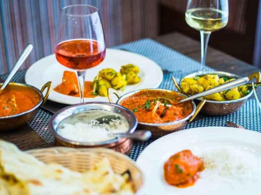 Los vinos de Jerez son perfectos para la comida india.