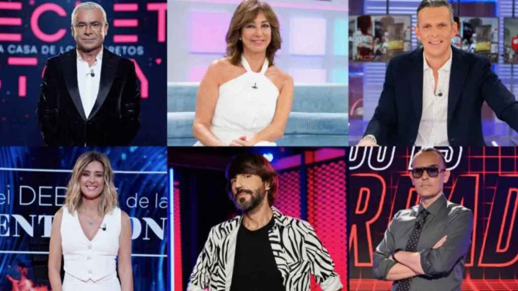 Los rostros de Mediaset España.