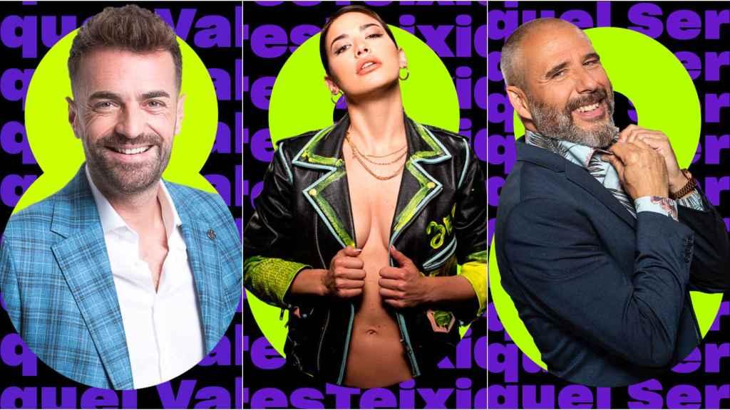 Miquel Valls, Ares Teixidó y Miquel Serra en montaje de BLUPER.