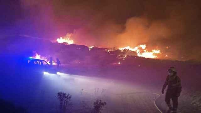 Incendio de  Navalacruz en Ávila