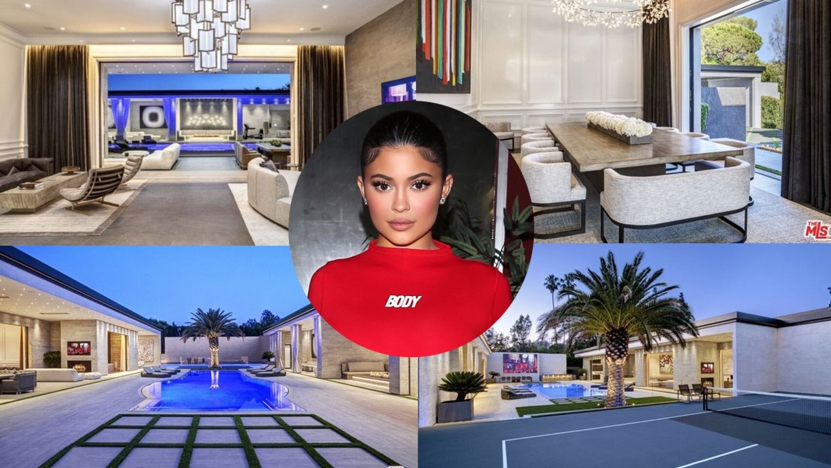 Kylie Jenner, sobre algunas imágenes de su casa en un montaje de JALEOS.