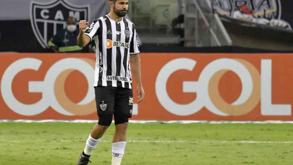 Diego Costa, en un partido del Atlético Mineiro