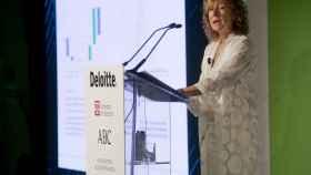 Margarita Delgado, subgobernadora del Banco de España, durante el evento.