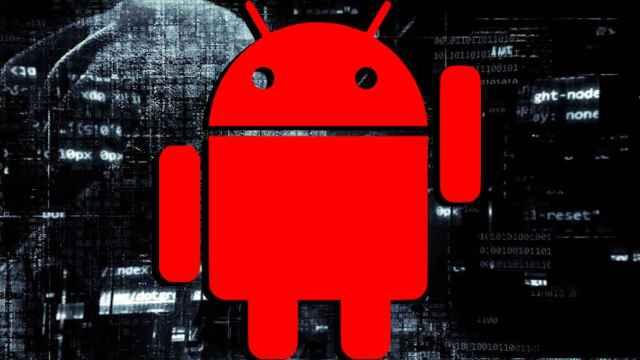 Andy, el logo de Android, en rojo.