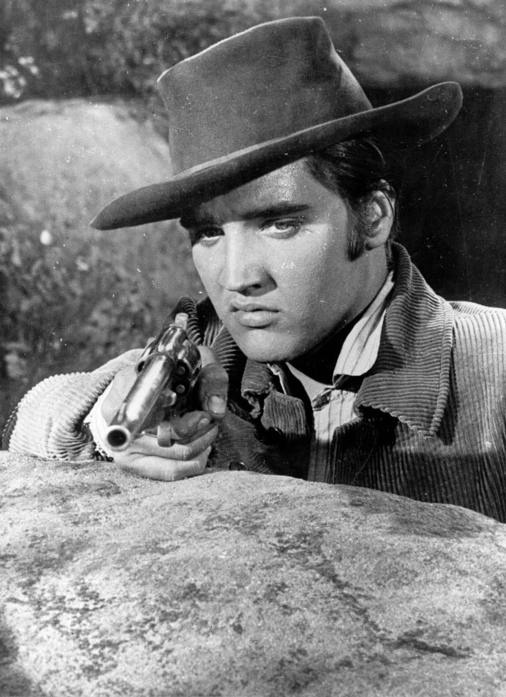 Elvis de cowboy en 'Estrella de fuego' (1960).
