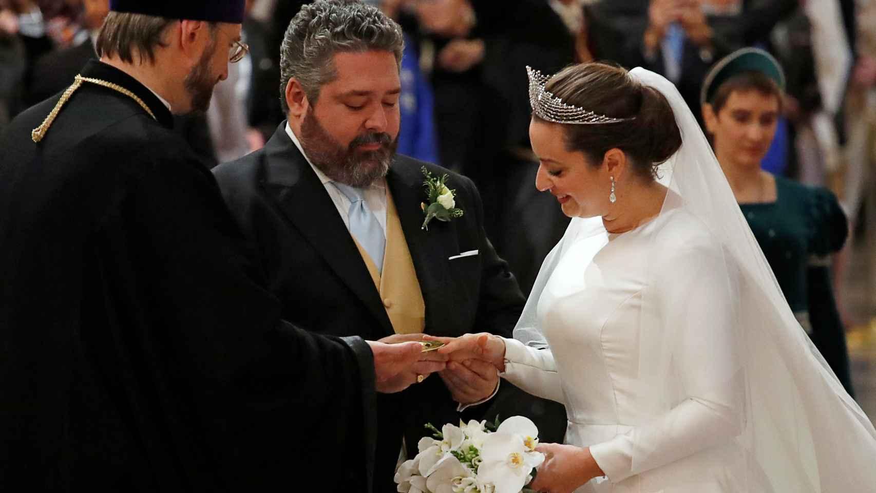 Así ha sido la majestuosa boda de Jorge Romanov y Rebecca Bettarini, la primera de un Gran Duque tras la revolución