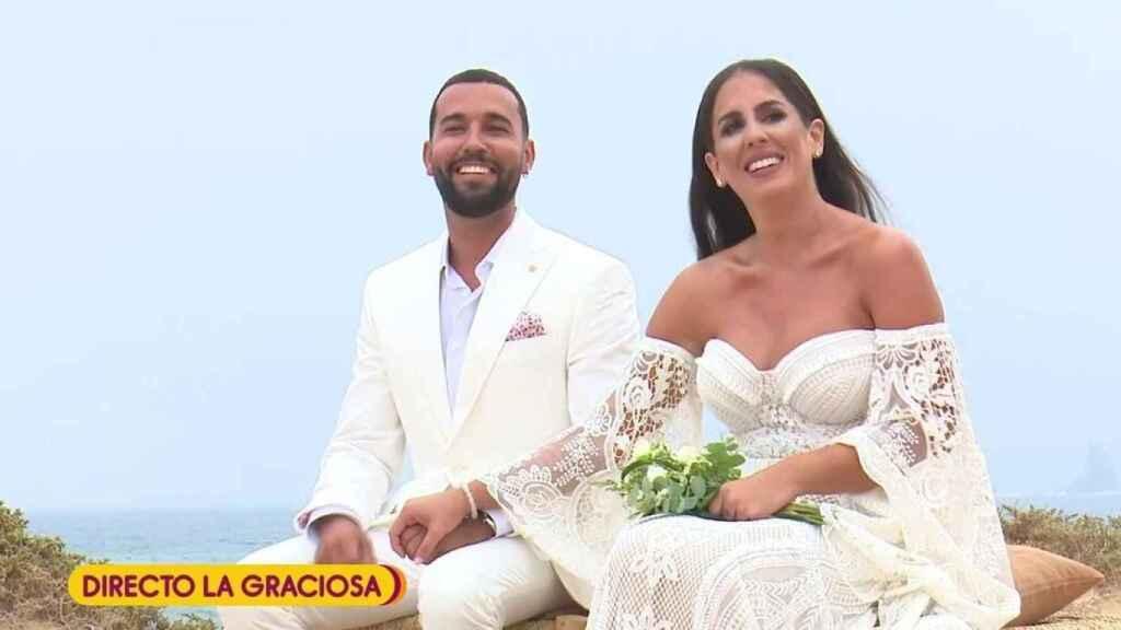 Imagen de 'Sálvame' durante la boda de Anabel Pantoja