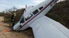 Dos reporteros de Telemadrid resultan heridos en un accidente de avioneta durante un reportaje