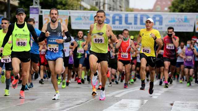 Atletas participantes en la Media maratón de Valladolid