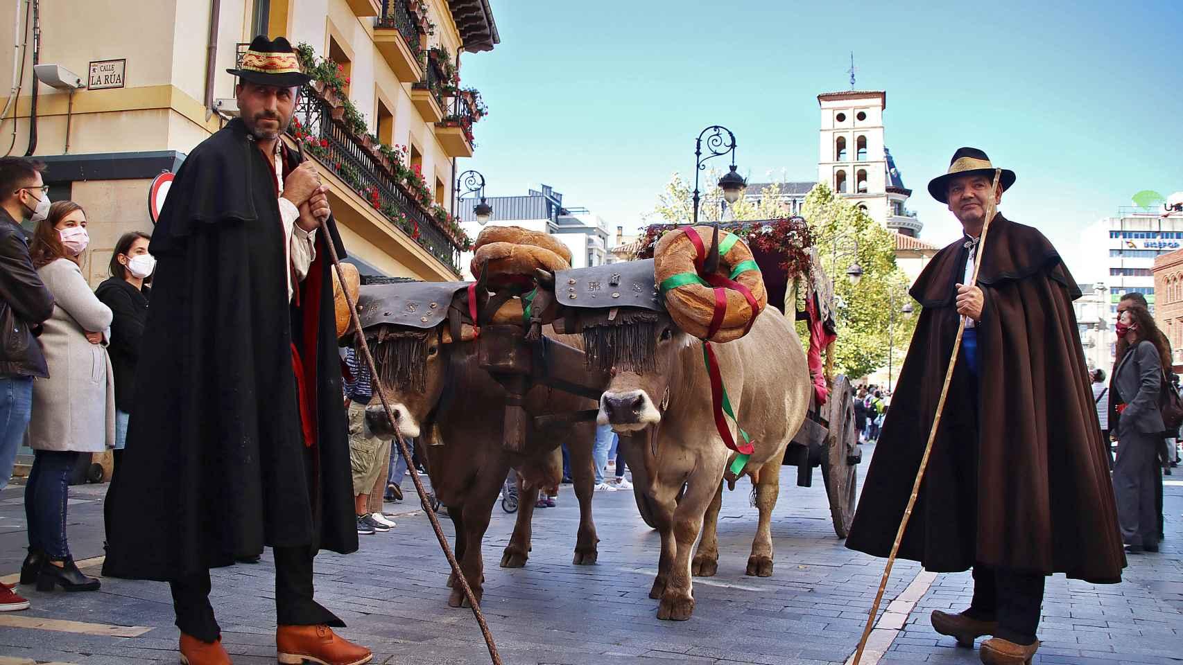 Imágenes de la ceremonia tradicional de Las Cantaderas por las fiestas de San Froilán en León